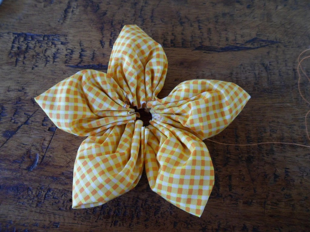 How to make a fabric flower tutorial