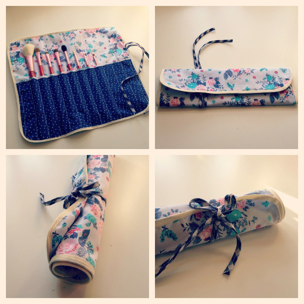 Girl must have: Floral and Pokadot Make up brush case…