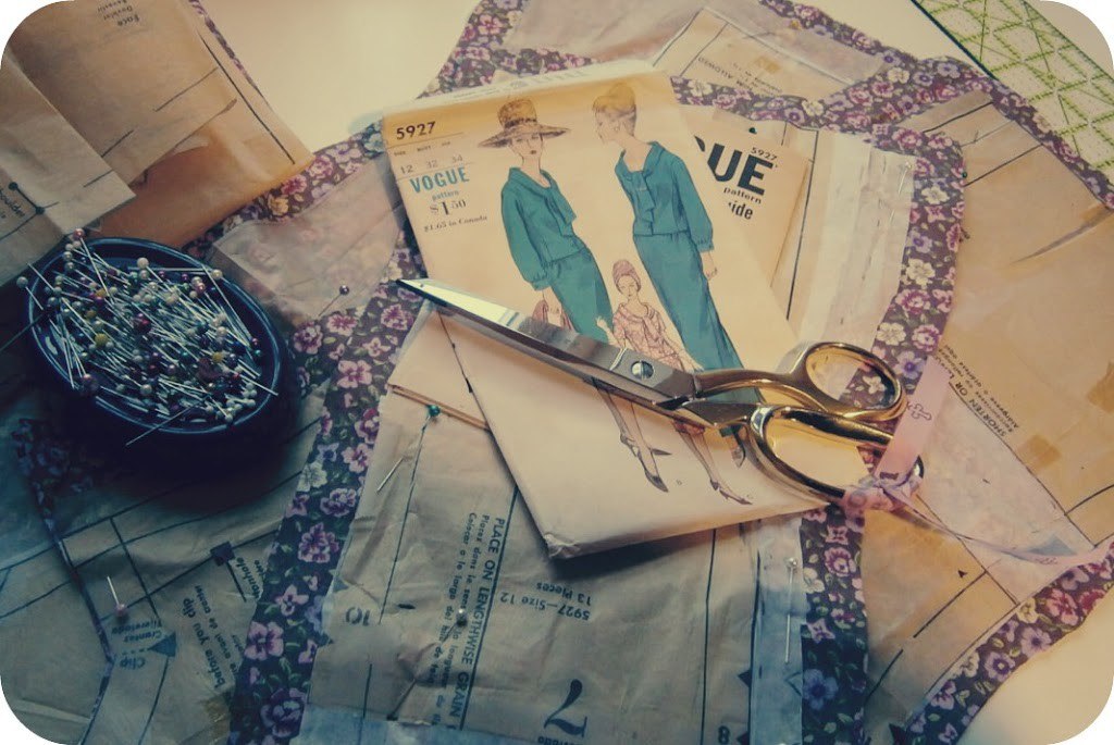 On my sewing table…