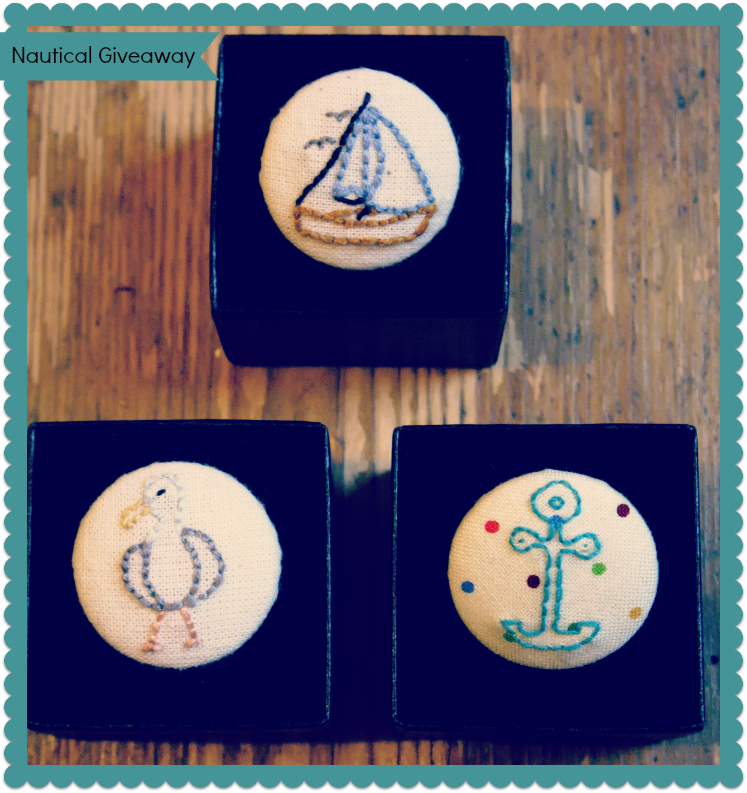 {International Craft Swap} Nautical Badges Giveaway.Open to all readers.