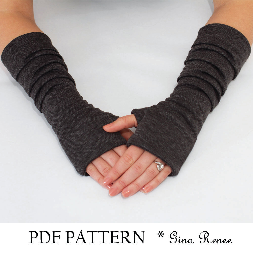 {International Craft Swap: Nautical} Sponsored giveaway: Fingerless Gloves Pattern with Pleats.