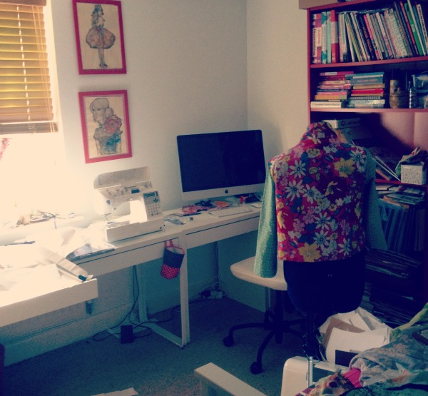 How messy it's your sewing room?