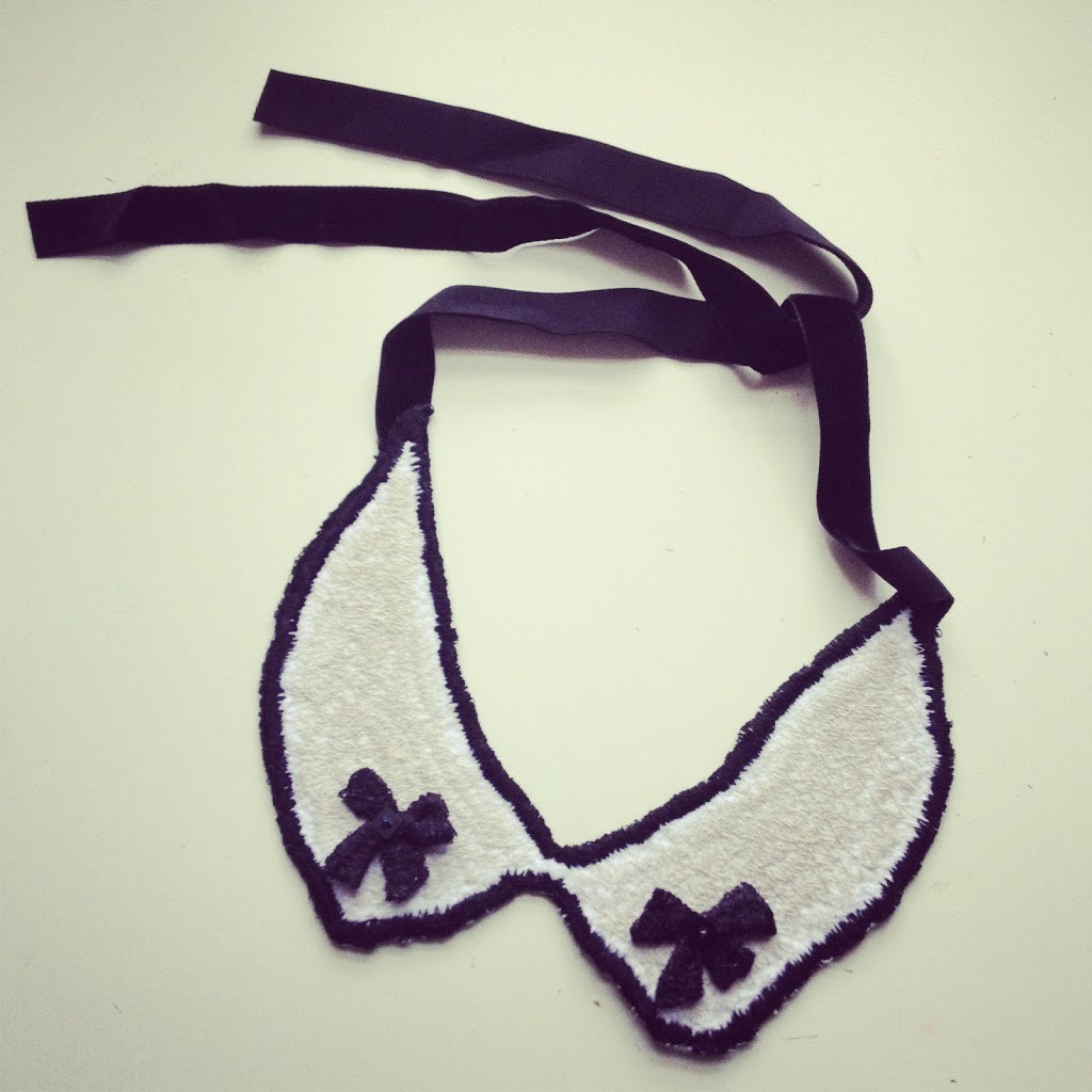 Miss Bardot machine embroidered necklace/collar