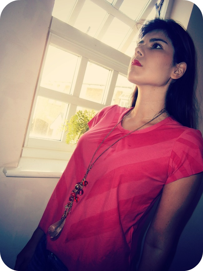 Neon pink Scout tee