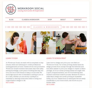 Studio Classes - Workroom Social • Sewing Instruction and Inspiration • Brooklyn