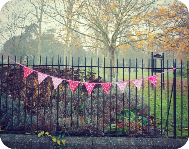 Sewing 101: Make your own bunting.
