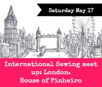 Save the date: Saturday May 17. Sewing meet up: London