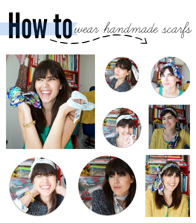 Style your handmade: How to wear scarfs