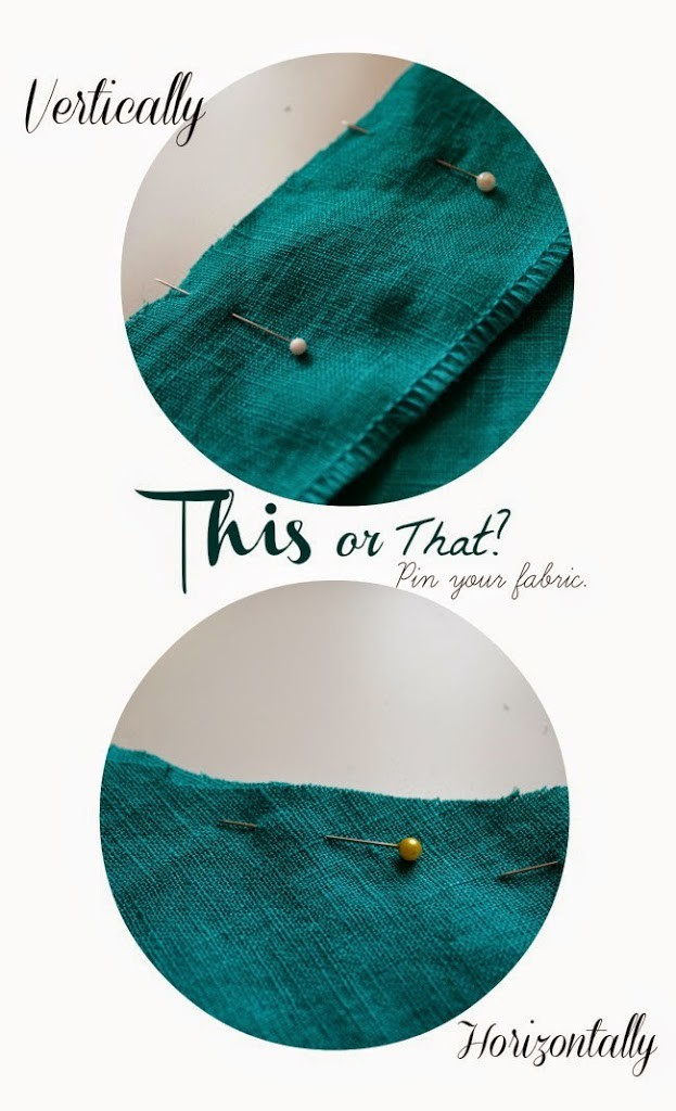 This or That : how do you pin your seams?