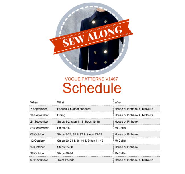 coatsewalong schedule